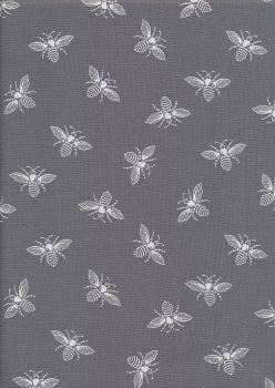 bees on grey